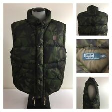 Polo Ralph Lauren Mens 2XL Full Zip Quilted Puffer Camouflage Down Fill Vest