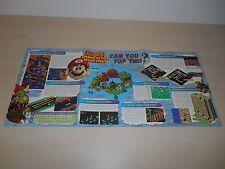 Super Mario RPG & Robotech Nintendo Power Poster Super Nintendo SNES N64 64