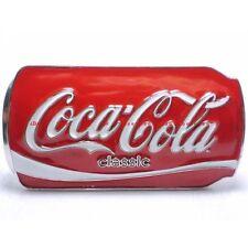 HBU0639 CLASSIC CAN BOTTLE SOFT DRINK BEVERAGE RED BELT BUCKLE