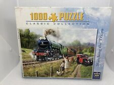 KEVIN WALSH Watching The Trains Jigsaw 1000 Flying Scotsmam See Description