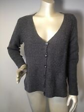 English Weather gray textured  M S cardigan 100% cashmere sweater England Made