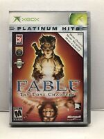 Fable 1 (2004) Original Microsoft Xbox - Complete w/ Manual - Tested Working