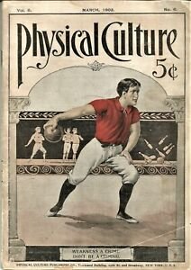 Vintage Weightlifting-Bodybuilding  PHYSICAL CULTURE MAGAZINE-March,1902