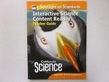 California Science Grade 3 Interactive Content Reader Teacher Guide 0153653698