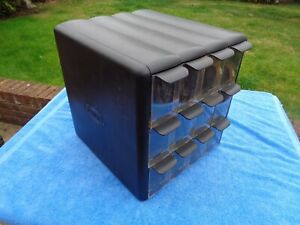 Large, Strong, Plastic Storage Box with Trays for Toys, Garage, Shed, Mechanic,