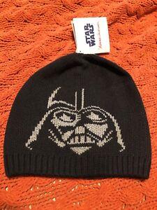 New HANNA ANDERSSON Star Wars Darth Vader Beanie Hat Size Youth Medium NWT