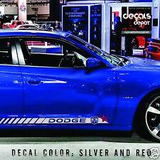 Dodge Charger R/T Hell Cat SRT SXT Rocker Panel Decal Stripes Avenger Challenger