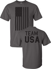 Team USA American Flag Olympics 2014 Front Back 6 COLORS Men's Tee Shirt 751