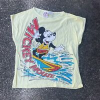 Vintage 80s Youth All Over Print Mickey Mouse T-Shirt Size Large