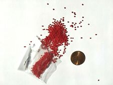 Italian Antique Micro Seed Beads- 14-15/0 Lipstick Red Opaque- 3.9 gram bags