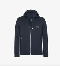 Dolce & Gabbana D&G Logo Plaque Zip Hooded Sweatshirt - Navy