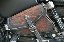 HARLEY DAVIDSON SPORTSTER LEFT OR RIGHT SADDLE BAG  ITALIAN LEATHER ENDSCUOIO L