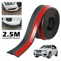 "100"" Universal Rubber Splitter Car Bumper Protector Lip Skirt Front Spoiler Side"