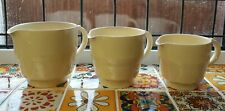 More details for vintage set of 3 graduated wood's ware 'jasmine' jugs