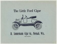 The Little Ford - Cigar Box Label - R. Sonnemann Cigar Co., Neenah, Wis. (b)