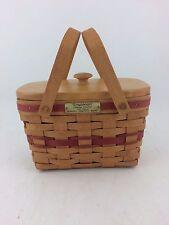 Longaberger 1992 Christmas Seasons Greetings Basket Combo w Lid