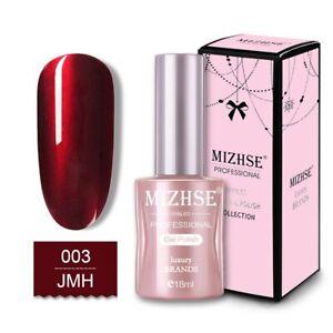 MIZHSE 18ML Nail Gel Polish Mirror Metal Red Color Nail Gel Soak Off UV Gel
