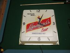 Leinenkugels brewing co Chippewa Falls Wis. working lighted clock
