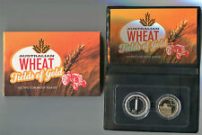 "2012 Royal Australian Mint Two Coin Proof Set: ""Australian Wheat."""