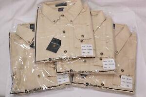 Jonathan Corey Men's Natural Dress Shirt Long Sleeve Various Sizes JC-610