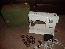 Elna SU  Sewing Machine l Case Cams Accessories Feet Foot Control
