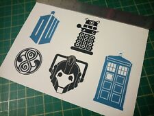Dr Who Sticker Set Tardis Dalek Cyberman