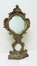 Psyché - miroir de table en bois sculpté à décor de feuille d'acanthe