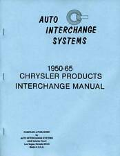 Wrecking Yard Interchange Guide for 1950-1965 Ply - Dodge - DeSoto-  Chrys - Imp