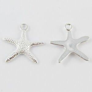 Bulk Starfish Charm Pendant Beach Marine Life 19x19mm Select Qty