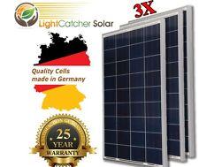 (3 pcs) 100W Watts 100 Watt  Solar Panel Off Grid 12 Volt 12V RV Boat Off Grid +