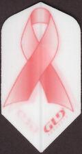 Pink Cancer Ribbon Slim Dart Flights: 3 per set