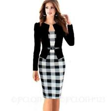 Special Occasion Check Regular Dresses Midi