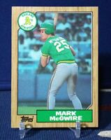 1987 Topps Mark McGwire RC Rookie Card #366 Oakland Athletics