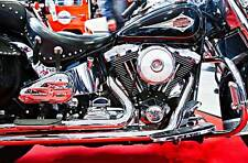 Leinwand Bilder Harley Davidson Chrom Motorrad Detail