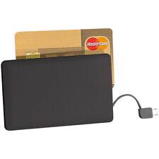 revolt Ultra-Slim-Powerbank im Kreditkarten-Format, 2500 mAh, Micro-USB-Kabel