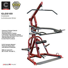 2018 NEW Body Solid GLGS100 Plate Loaded Leverage Corner Gym Machine