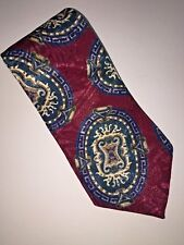 Johnathan Men's Maroon Paisley Polyester Neck Tie Made in USA