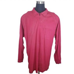 Bulwark iQ Series FR Fire Flame Resistant HRC2 2112 LS Shirt Red Mens 2XL EUC