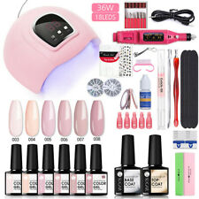 UR SUGAR UV Gel Nail Set 6 Color Polish Top Base Gel UV LED Lamp Dryer Tools Kit