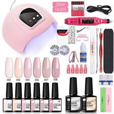 UR SUGAR UV Gel Nail Set 6 Color Polish Top Base Gel UV LED Lamp Dryer Tools Kit