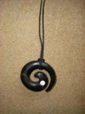 Pendentif en bois - L'œil de Shiva Noir