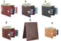 Multi Mens Genuine Leather Hipster European Bifold Fold Wallet Credit Card New