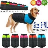 Muti-size Waterproof Dog Clothes Autumn Winter Warm Padded Pet Coat Vest Jacket
