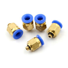 5PCS Male M5 - 6mm Straight Push in Fitting Pneumatic Push to Connect AirVEF