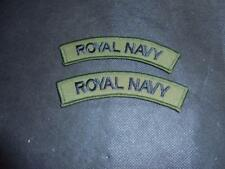 NEW Pair British Royal Navy Subdued Shoulder Titles / Badges / Patches