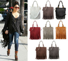 New Womens LYDC Celeb Designer Official Fringe Faux Leather Tassle Messenger Bag