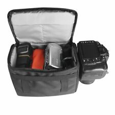 Large Soft Padded Camera Equipment Bag Case W/Strap for Dslr Cameras Camcorders