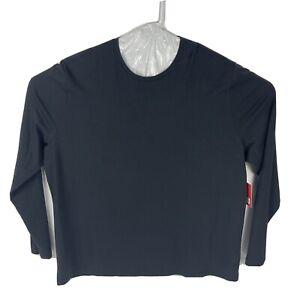 Brand New Tommy John Essential Crewneck Long Sleeve T-Shirt Black Men's Size XXL