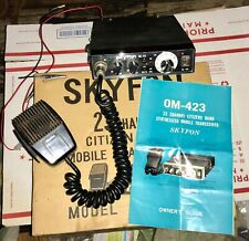 1976 Skyfon 23 Channel Citizen Band Mobile Transceiver Model Om-423 In Box