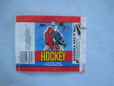 1984/85 TOPPS NHL HOCKEY CARD EMPTY WAX PACK WRAPPER STEVE YZERMAN ROOKIE